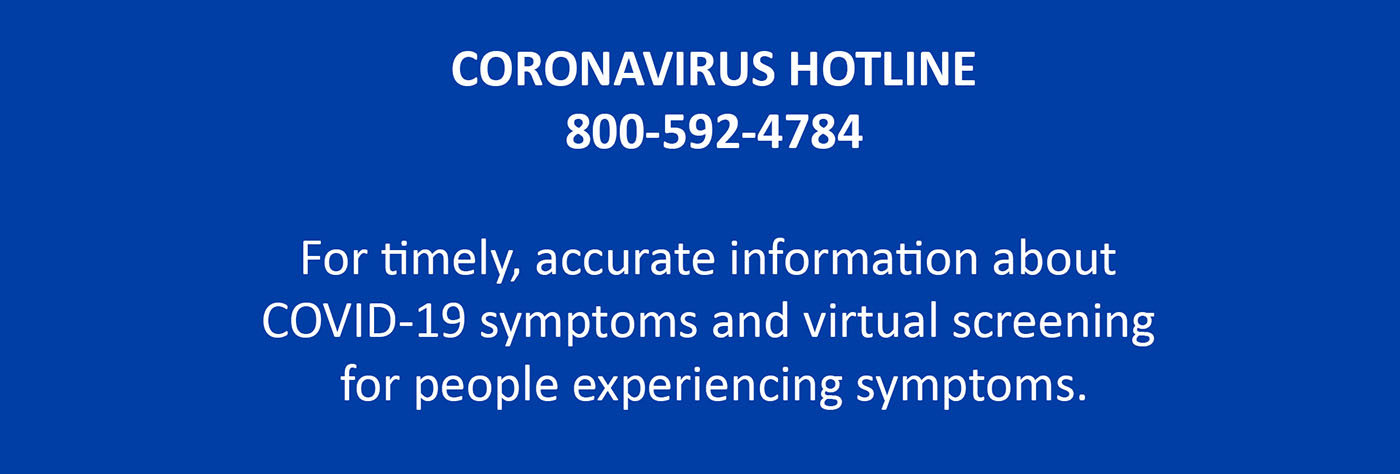 Call the Coronavirus hotline